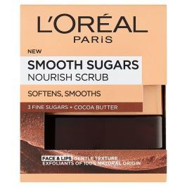 L'Oréal ParisSmooth Sugars Nourish Scrub s kakaovým máslem 48 g