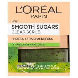 L'Oréal Paris Smooth Sugars Clearing Scrub se zrníčky kiwi 48 g