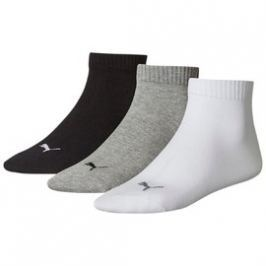 Pánské Ponožky Puma Quarter Socks 3 Pair grey-whit