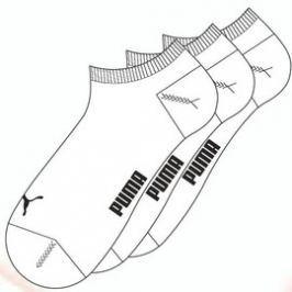 Pánské Ponožky Puma Invisible Sneaker 3 Pair white