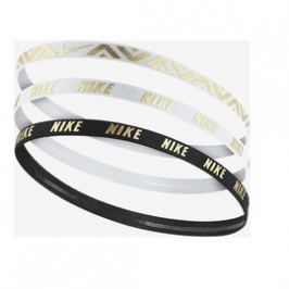 Dámská čelenka Nike METALLIC HAIRBANDS 3 PACK