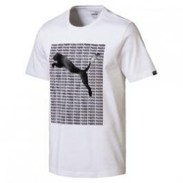 Pánské Tričko Puma Repeat Tee White
