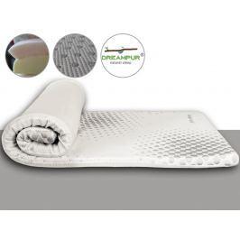 DREAMPUR Vrchní matrace (přistýlky) z latexové pěny DREAMPUR® grey dots 5 cm - 80x200 cm | 1+1 zdarma (2ks)