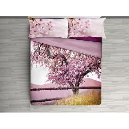 Gipetex Natural Dream 3D italské povlečení 100% bavlna Třešňový strom - 140x200 / 70x90 cm