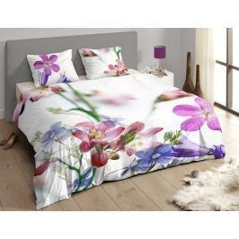 Descanso Luxusní saténové povlečení DESCANSO 9258 Feline 3D květy - 200x200-220 / 60x70 cm