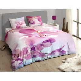 Descanso Luxusní saténové povlečení DESCANSO 9260 Olivia 3D květy - 240x200-220 / 60x70 cm