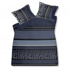 Vandyck Luxusní saténové povlečení VANDYCK Romeo faded denim modrá - 240x200-220 / 60x70 cm