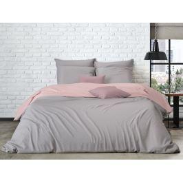 Mistral home Mistral Home povlečení bavlněný perkál Doubleface šedo-béžová/pudrová růžová - 140x200 / 70x90cm
