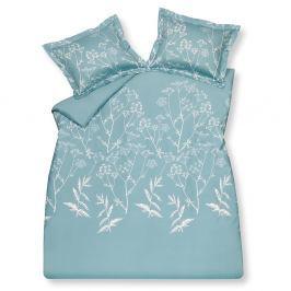 Vandyck Luxusní saténové povlečení VANDYCK Sketch Misty blue - 140x200-220 / 60x70 cm