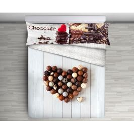 Gipetex Natural Dream 3D italské povlečení 100% bavlna Cioccolato - 140x200 / 70x90 cm