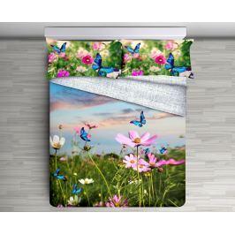 Gipetex Natural Dream 3D italské povlečení 100% bavlna Garden - 140x220 / 70x90 cm