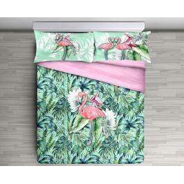 Gipetex Natural Dream 3D italské povlečení 100% bavlna Flamingo - 140x200 / 70x90 cm