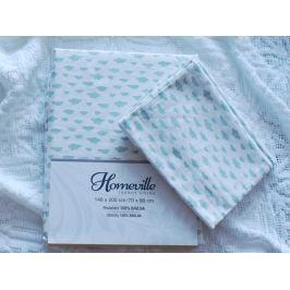 Homeville Homeville povlečení 100% bavlna Aliina mentolová 140x200cm+70x90cm