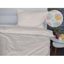 Homeville Homeville povlečení 100% bavlna Bertta tyrkysová 140x200cm+70x90cm