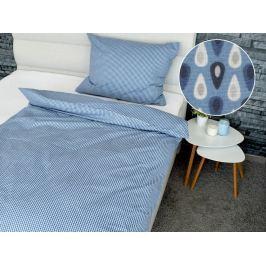 Homeville Homeville povlečení 100% bavlna Auroora modrá 140x200cm+70x90cm