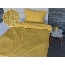 Homeville Homeville povlečení 100% bavlna Essi žlutá 140x200cm+70x90cm