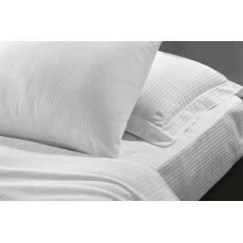 Homeville Hotelové povlečení z bavlněného saténu Felicity Stripe 5 - bílá - 140x200 / 70x90 cm