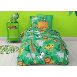 Mistral home Mistral Home dětské povlečení 100% bavlna Safari zelená 140x200/70x90cm