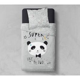 TODAY TODAY povlečení 100% bavlna Cool Panda 140x200 / 63x63 cm