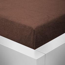 Homeville Homeville froté prostěradlo české výroby čokoláda 30cm výška - 90x200 cm