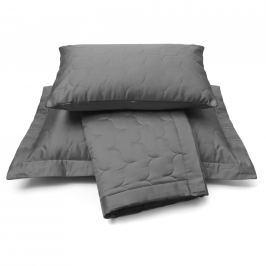 Vandyck Vandyck Luxusní saténový přehoz na postel Anthracite - tm. šedá - 260x260 cm