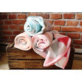Home collection Fleece deka s barevnými trojúhelníky 130x160 cm - Modrozelená