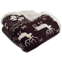 Homeville Homeville deka mikroplyš s beránkem 150x200 cm norský vzor hnědá