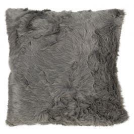Home collection Dekorační polštářek imitace kožešiny 48x48 cm - Šedohnědá