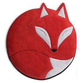 Leschi Hřející polštářek liška Luca 25x25cm červená/černá