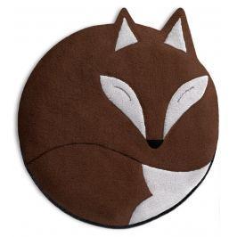 Leschi Hřející polštářek liška Luca 25x25cm hnědá/černá