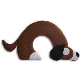 Leschi Hřející polštářek pes Bobby 34x21cm hnědá/černá