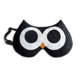 Leschi Maska na spaní sova Stella 20x12cm černá/černá