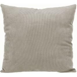 Home collection Dekorační polštářek manšestrový 45x45 cm šedobéžová
