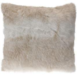 Home collection Dekorační polštářek imitace kožešiny 48x48 cm béžová
