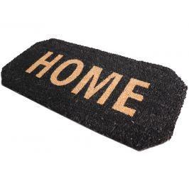 Home collection Kokosová rohožka se zkosenými rohy Home 33x70 cm černá