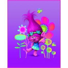 CTI CTI Fleece dečka Trolls (Trollové) Poppy 110x140 cm