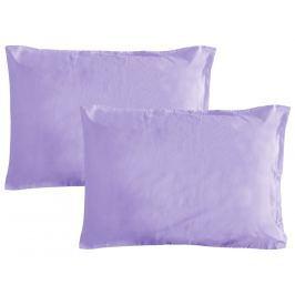 Gipetex Natural Dream Povlak na polštář italské výroby 100% bavlna - 2 ks fialová - 2 ks 70x90 cm