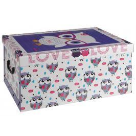Home collection Úložná krabice sova s brýlemi 51x37x24cm