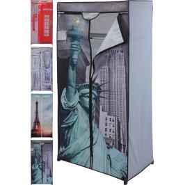 Home collection Textilní skládací skříň 75x45x160cm Young collection - Londýnská budka