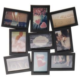 Home collection Rám na 9 fotek 42,5x48cm černá