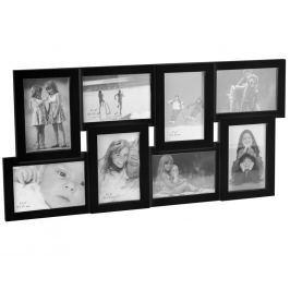 Home collection Rám na 8 fotek 60x30 cm černá