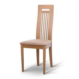 Dřevěná židle, dub/látka hnédá, EDINA 0000042608 Tempo Kondela