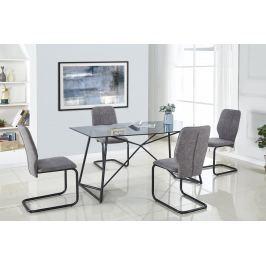Jídelní stůl SENSOR sklo / černá Halmar