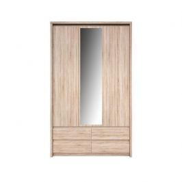 Skříň se zrcadlem 3D4S, Dub sonoma, NORTY TYP 1 0000147830 Tempo Kondela