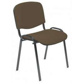 Konferenční židle ISO tmavě hnědá Halmar