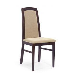 Jídelní židle DOMINIK tmavý ořech Halmar