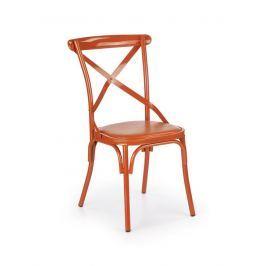 Jídelní židle K216 oranžová Halmar
