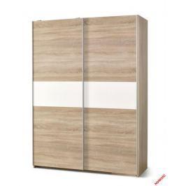 Šatní skříň LIMA S-1 dub sonoma / bílá Halmar
