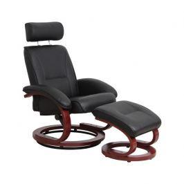 Relaxační křeslo NIGEL černá / třešeň Tempo Kondela