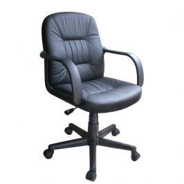 Kancelářské křeslo, split kůže + ekokůže, černá, PAUL - NEW 0000010565 Tempo Kondela